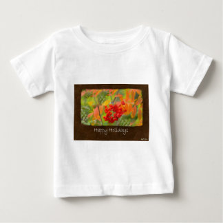 Ariana Autumn Leaves 6 Happy Holidays Baby T-Shirt