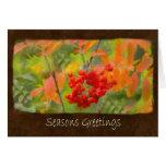 Ariana Autumn Leaves 6 Seasons Greetings Greeting Cards