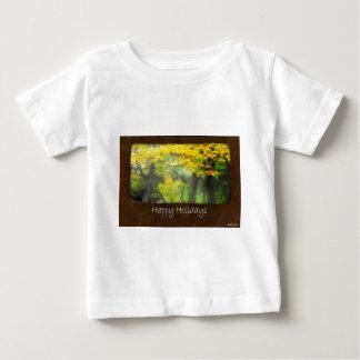 Ariana Autumn Leaves 7 Happy Holidays Baby T-Shirt
