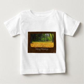 Ariana Autumn Leaves 8 Happy Holidays Baby T-Shirt
