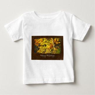 Ariana Autumn Leaves 9 Happy Holidays Baby T-Shirt