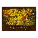 Ariana Autumn Leaves 9 Happy Holidays Greeting Card