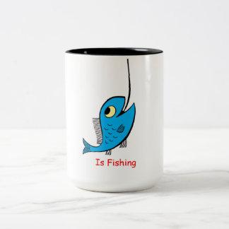 Ariana Fishing Two-Tone Coffee Mug