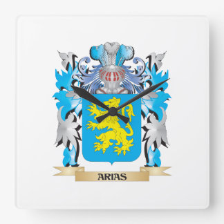 Arias Coat Of Arms Wall Clocks