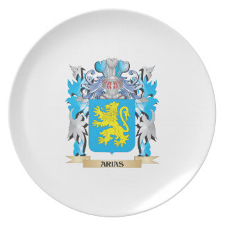 Arias Coat Of Arms Party Plate