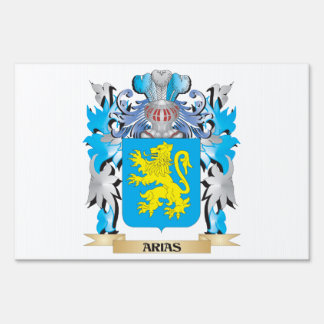 Arias Coat Of Arms Lawn Signs