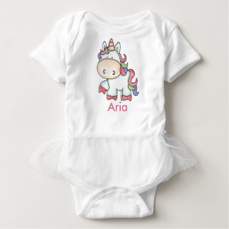 Aria's Personalized Unicorn Gifts Baby Bodysuit