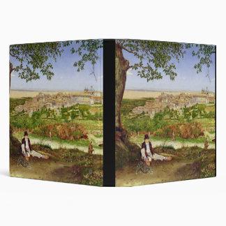 "Ariccia, Italia, 1860 (aceite en el panel) Carpeta 1 1/2"""