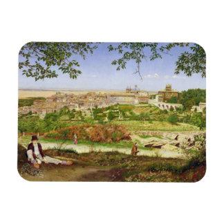 Ariccia, Italia, 1860 (aceite en el panel) Iman Flexible