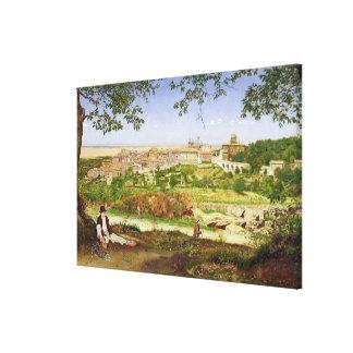 Ariccia, Italia, 1860 (aceite en el panel) Lona Estirada Galerías