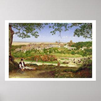 Ariccia, Italia, 1860 (aceite en el panel) Póster