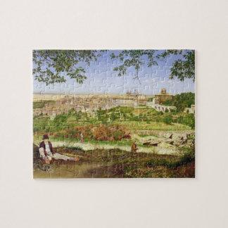 Ariccia, Italia, 1860 (aceite en el panel) Rompecabeza Con Fotos