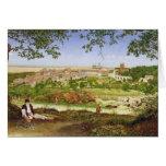 Ariccia, Italia, 1860 (aceite en el panel) Tarjetón