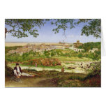 Ariccia, Italy, 1860 (oil on panel) Greeting Cards