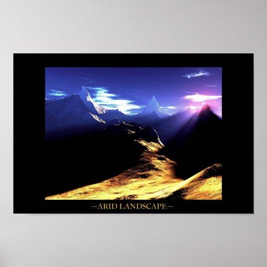 Arid Landscape Poster