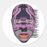 Arid Scorbutic Round Stickers