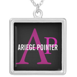 Ariege Pointer Breed Monogram Silver Plated Necklace