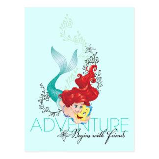 Ariel | Adventure Begins With Friends Postcard