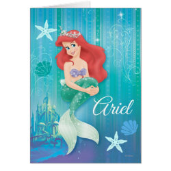 Greeting Card with Ariel Under The Sea - The Little Mermaid design