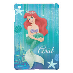Case Savvy iPad Mini Glossy Finish Case with Ariel Under The Sea - The Little Mermaid design