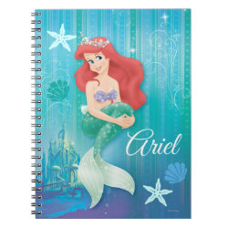 Photo Notebook (6.5' x 8.75', 80 Pages B&W) with Ariel Under The Sea - The Little Mermaid design