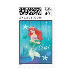 Medium Stamp 2.1' x 1.3' with Ariel Under The Sea - The Little Mermaid design