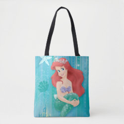 All-Over-Print Tote Bag, Medium with Ariel Under The Sea - The Little Mermaid design