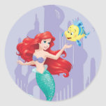 Ariel and Flounder Classic Round Sticker