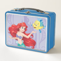 Ariel and Flounder Metal Lunch Box