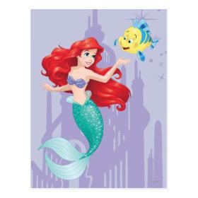 Ariel and Flounder Postcard