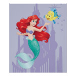Ariel and Flounder Poster