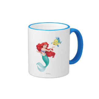 Ariel and Flounder Ringer Coffee Mug