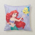 Ariel and Flounder Throw Pillow