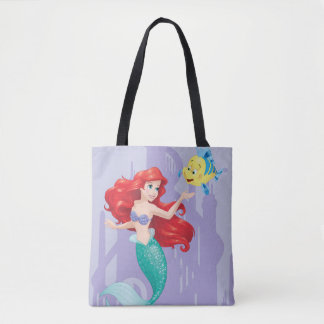Ariel and Flounder Tote Bag