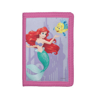 Ariel and Flounder Trifold Wallet