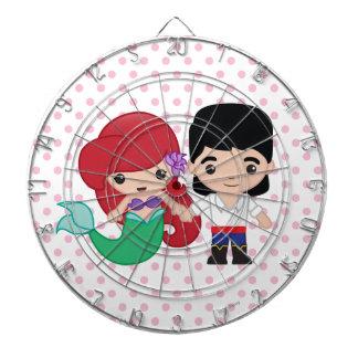 Ariel and Prince Eric Emoji Dartboard