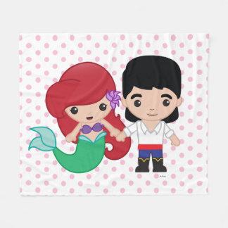Ariel and Prince Eric Emoji Fleece Blanket