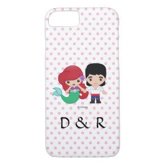 Ariel and Prince Eric Emoji | His & Hers Initials iPhone 8/7 Case