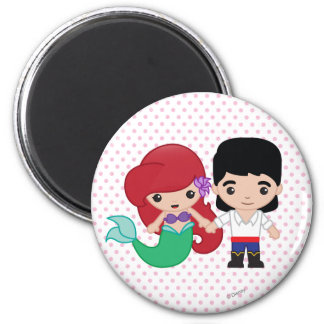Ariel and Prince Eric Emoji Magnet