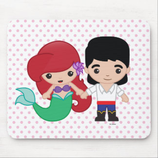 Ariel and Prince Eric Emoji Mouse Pad