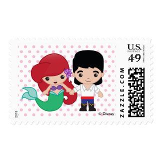 Ariel and Prince Eric Emoji Postage