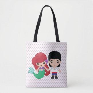 Ariel and Prince Eric Emoji Tote Bag