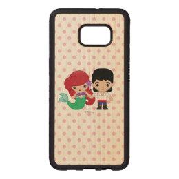 Ariel and Prince Eric Emoji Wood Samsung Galaxy S6 Edge Case