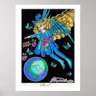 """Ariel"" Angel Poster"