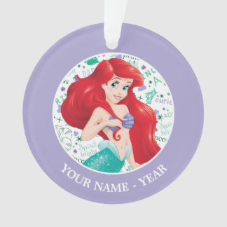Ariel | Ariel Holding Hair Add Your Name Ornament