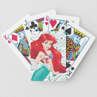 Ariel aventurero barajas de cartas
