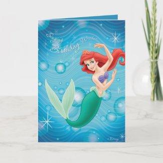 Ariel Birthday Card Disney
