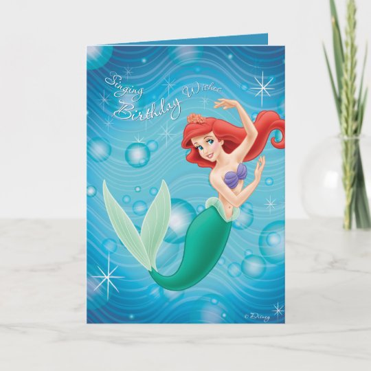 Ariel Birthday Card Disney Zazzle