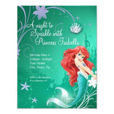 disney Ariel Birthday Invitation
