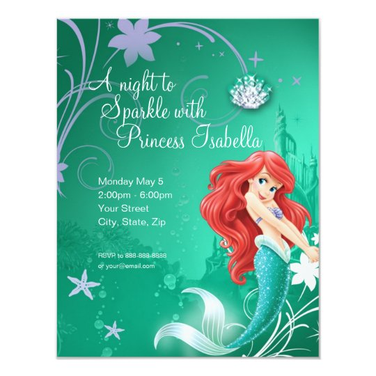 Ariel Birthday Invitation Zazzlecom - Custom ariel birthday invitations